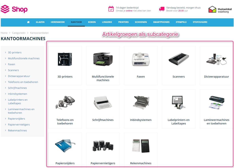 webshop-subcategorie