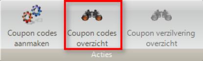 Coupon codes overzicht