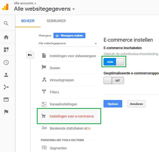 ecommerce-inschakelen-logic4-help